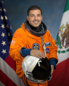 Astronaut Jose Hernandez in his special mission Space Suit