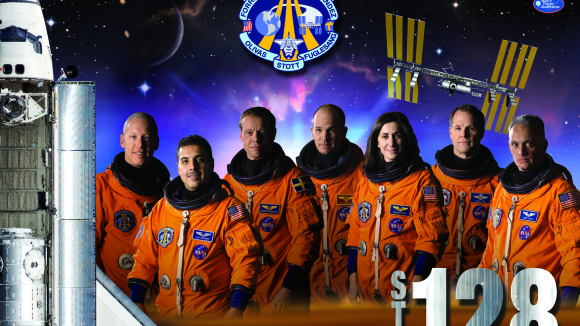 Astronaut Jose Hernanadez and his crew. He piloted his expeditions to the ISS, and near atmosphere missions