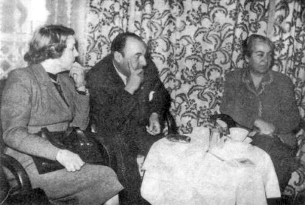 Gabriela Mistral with Pablo Neruda in 1951