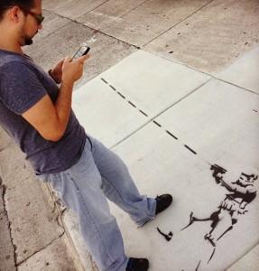 Hubert es gran admirador de arte callejero, sobre todo de la obra de Bansky
