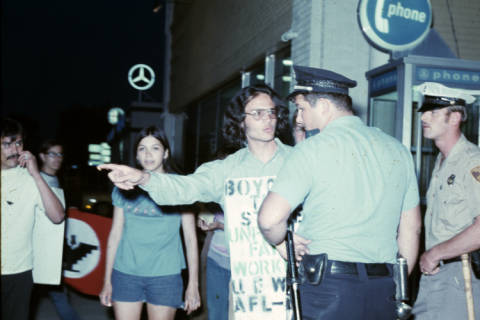 Chester Ruiz during Civil Rights demonstrations