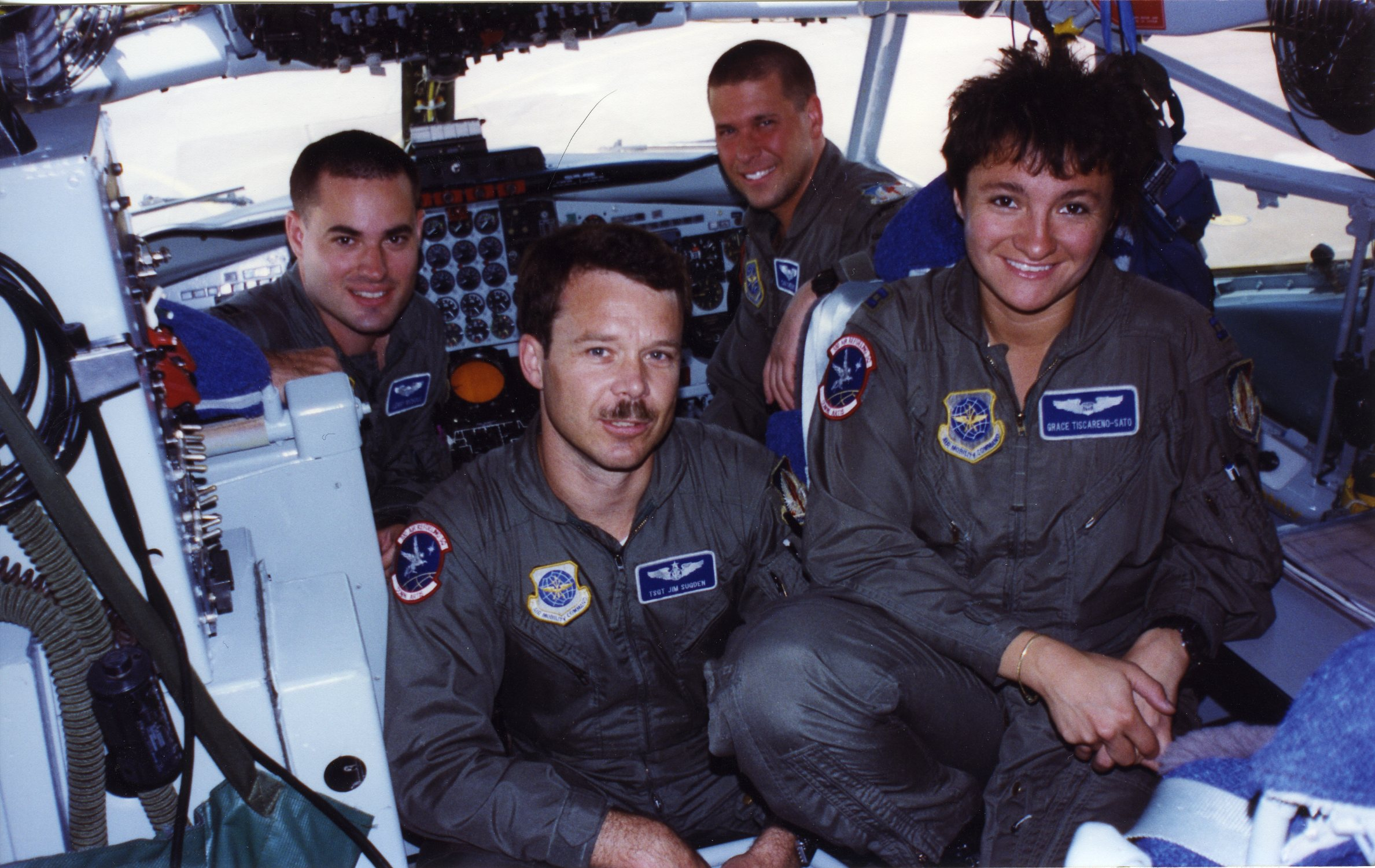 Crew in cockpit 300